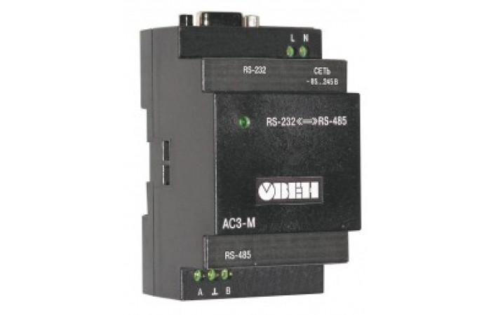 Автоматический преобразователь интерфейсов RS-232/RS-485 ОВЕН АС3-М