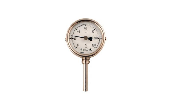Термометры биметаллические, технические, коррозионностойкие, без резьбовые