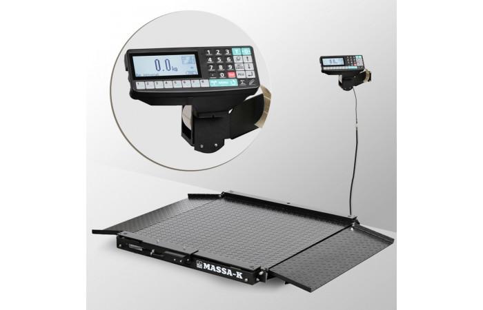 Весы низкопрофильные с печатью этикеток 4D-LA-2_RP
