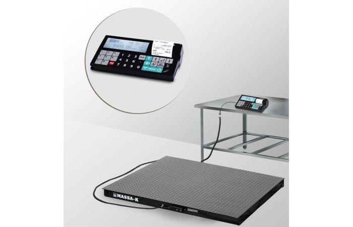 Весы платформенные с печатью отчетов 4D-PM-12/12_RC