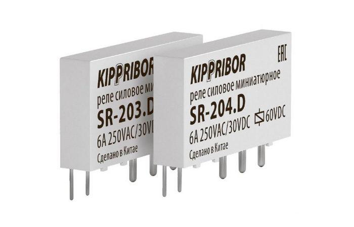 Интерфейсные промежуточные реле в ультратонком корпусе. Серия SR (1- контактные)